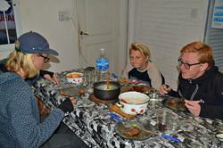 La Rioja: Aftensmad på vores hostel