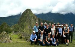Rejsegruppe på Machu Picchu