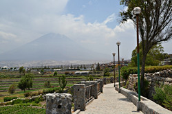 Terrasser i Paucarpata og El Misti