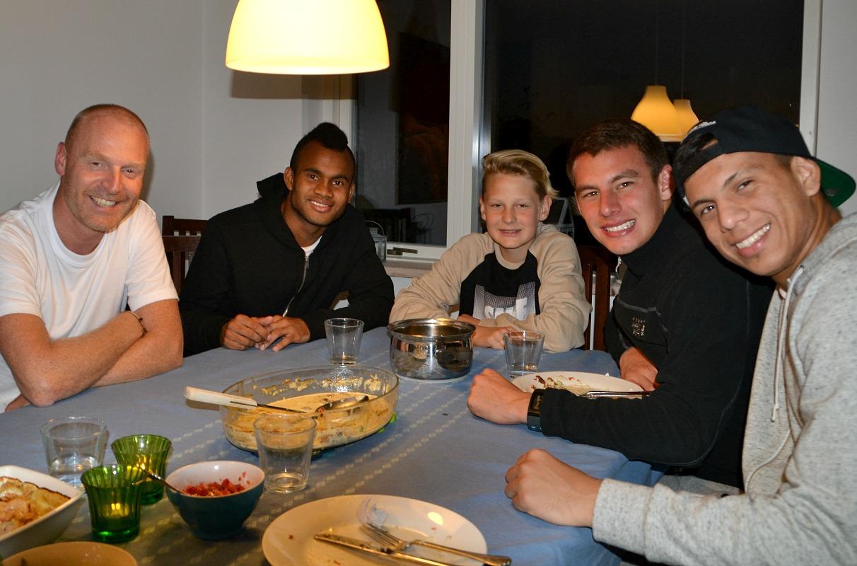 Besøg af Diego, Li og Mario