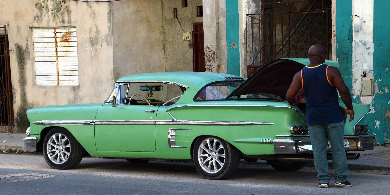 Amerikanerbil i Havana Centro