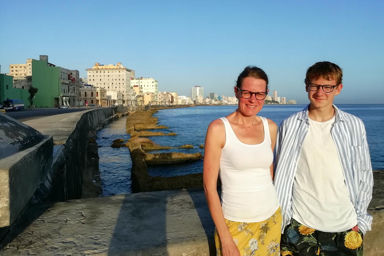 Merete og Hjalte på El Malecón