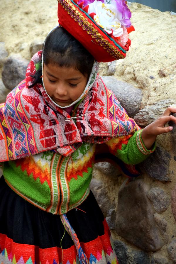 Barn i Ollantaytambo