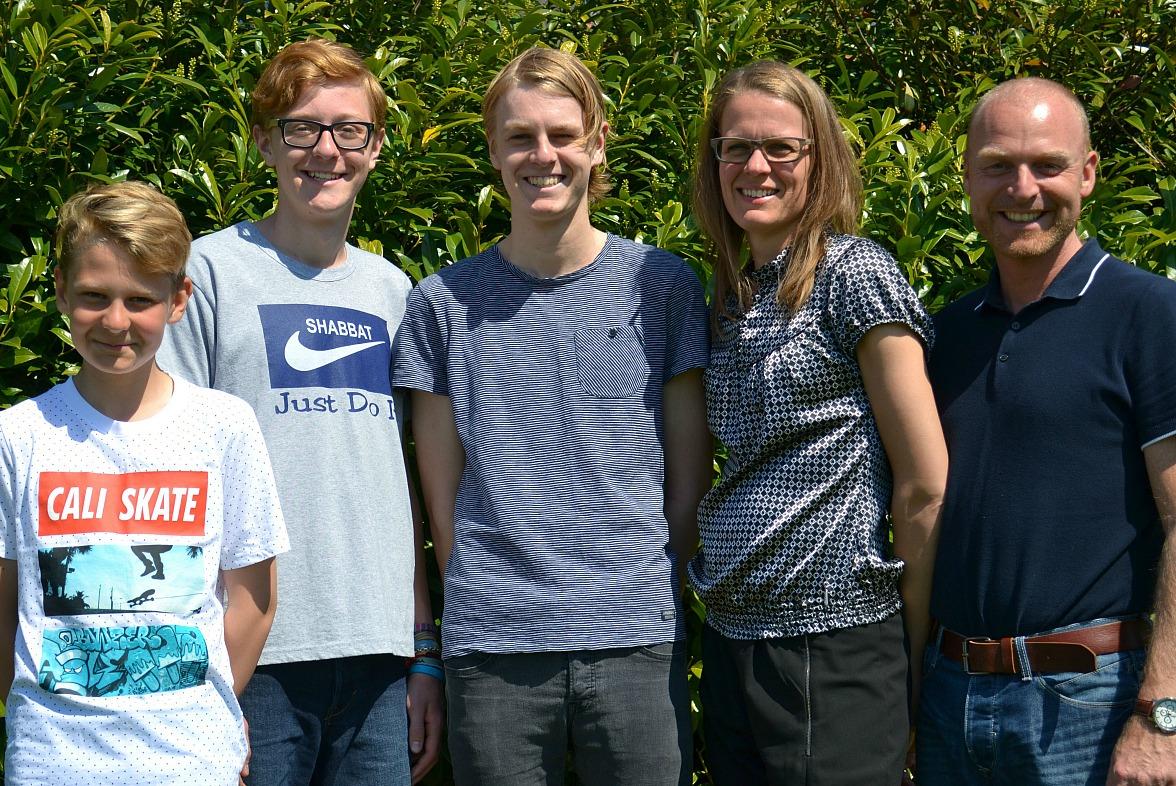Familien Steffensen maj 2016