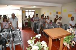 Gudstjeneste i kirken i Mejía