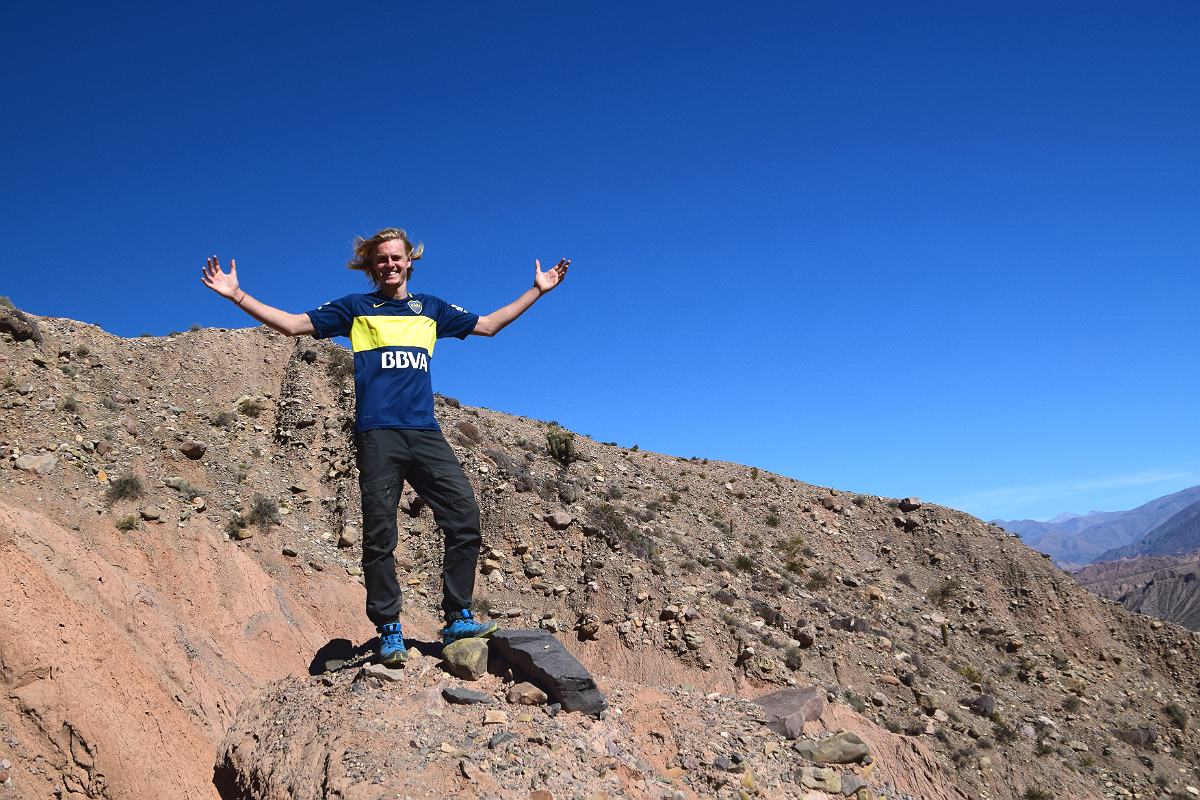 Tilcara: Asbjørn on top of the world