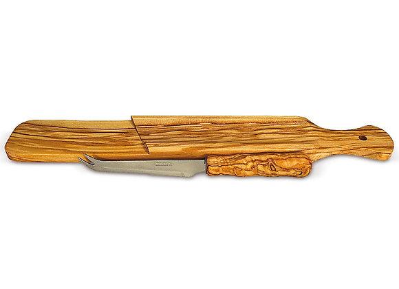 Salamibrett mit Messer