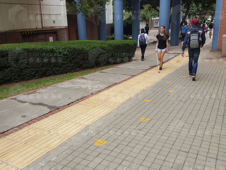 Are the blind and visually impaired aware of accessible pedestrian walk ways and find them useful?