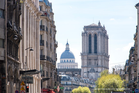 Notre-Dame de Paris on April 17th, 2019