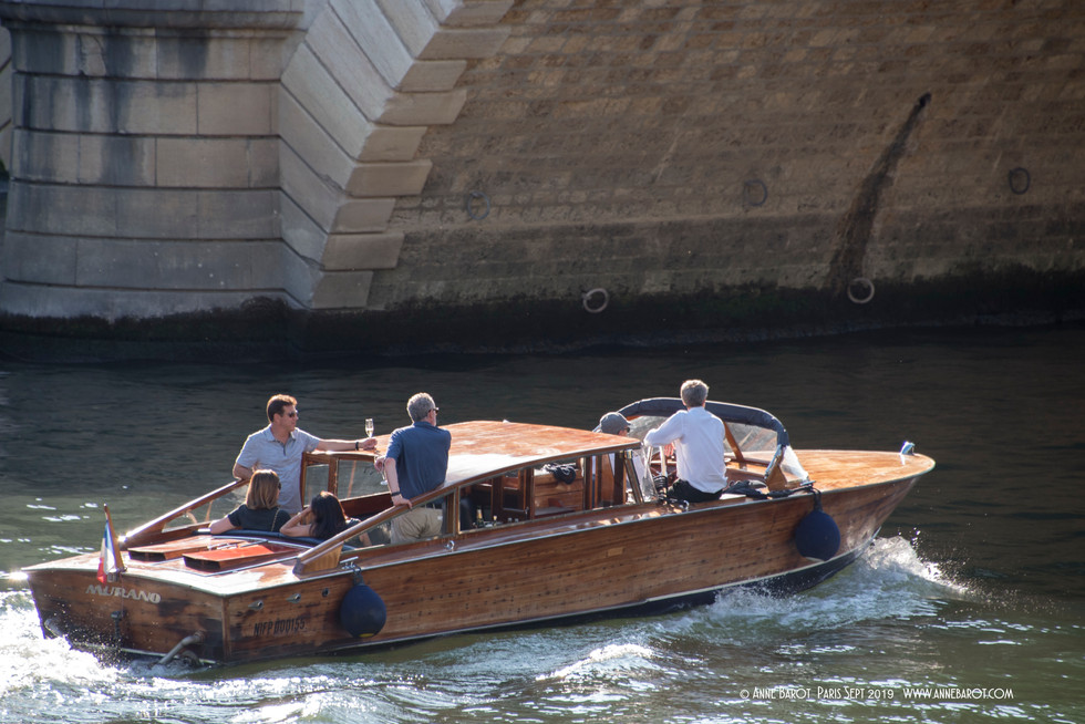 visiting the city on a typical Italian boat