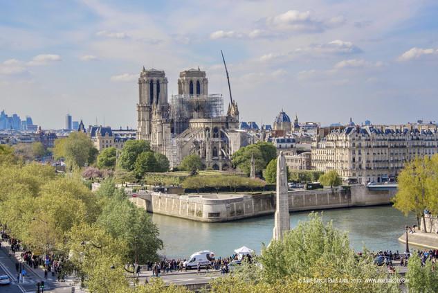 Notre-Dame de Paris on April 16th, 2019