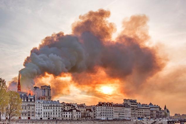 Notre-Dame de Paris on April 15th, 2019