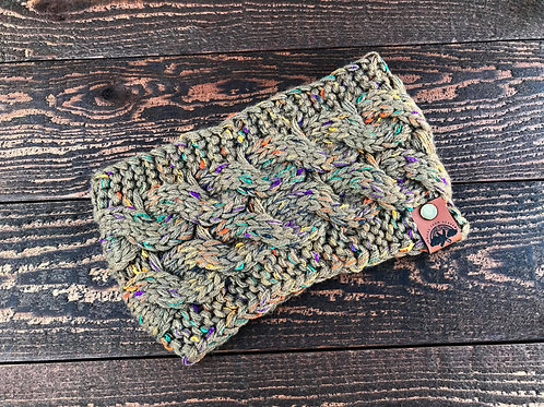Speckled Olive Headband