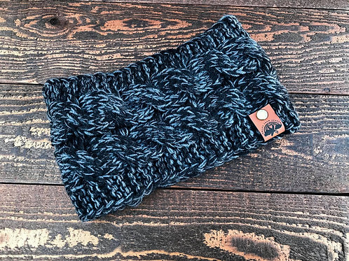 Speckled Black/Grey Headband