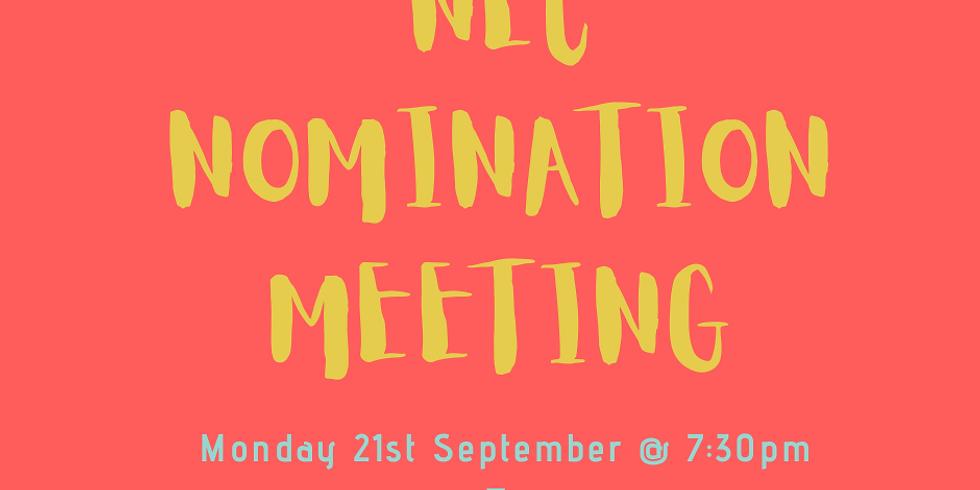 NEC Nomination Meeting