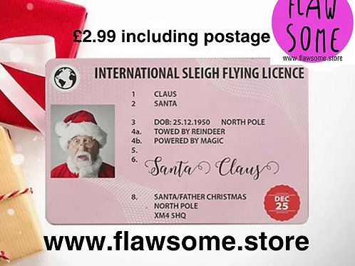 Santa's Sleigh Flying licence (he's lost it!! 🤣)