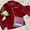 Thumbnail: Boys red velvet Christmas pyjamas