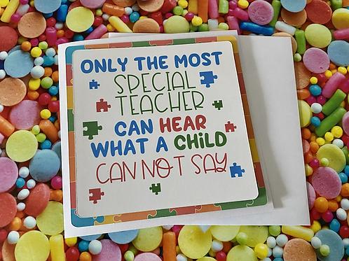Special Teacher (Autism Teacher card)