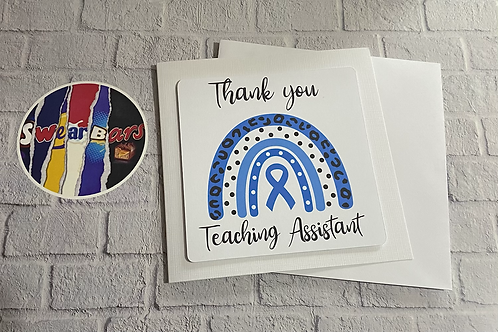 Diabetes Teachers thank you card (unpersonalised)