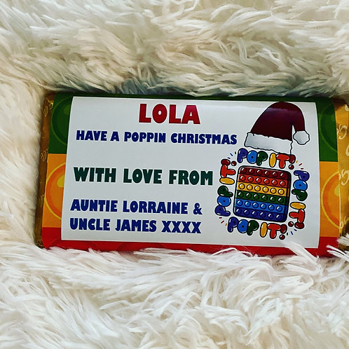 Personalised Popit chocolate bar