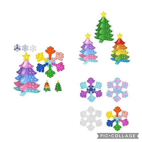 Pop it Tree or Snowflake