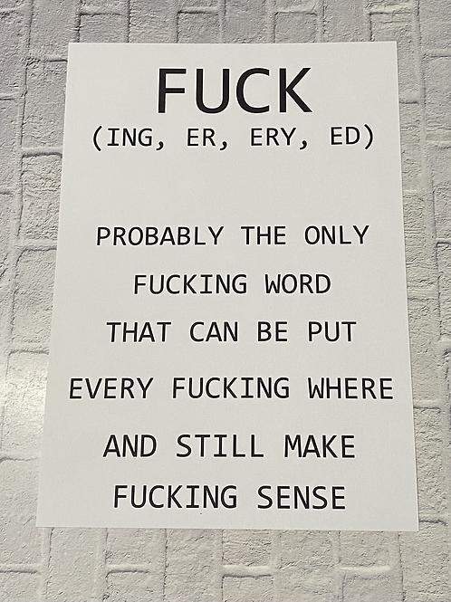 FUCK A4 print