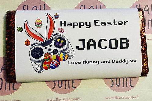 Gaming Easter chocolate bar , Personalised