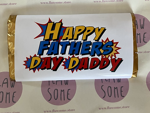 Father's Day superhero chocolate bar