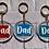 Thumbnail: Dad, Daddy or Grandad key ring