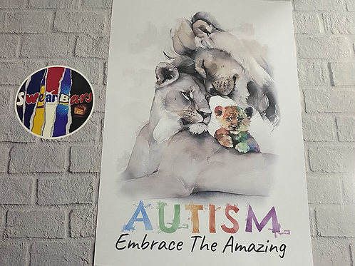Autism Lion print