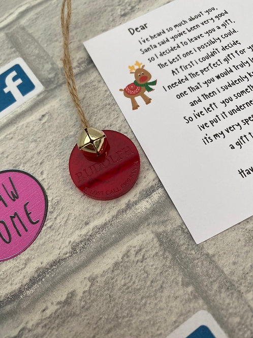 Rudolph's tag and note