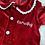 Thumbnail: Children's Red velvet night dress or Red velvet lace trim pyjamas