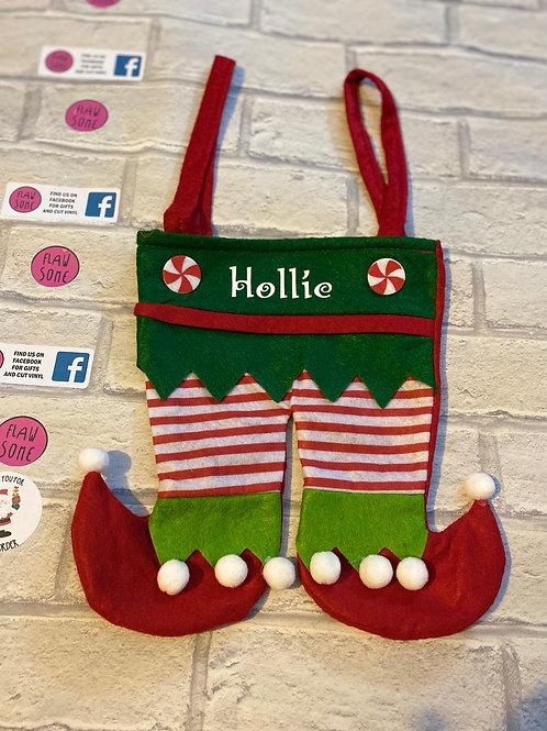 Elf leg bags-Personalised