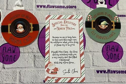 Santa/Elf Cam with note