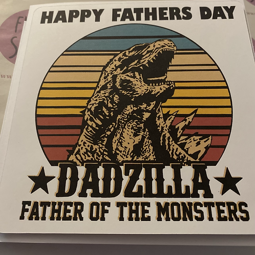 Father's Day DADZILLA card