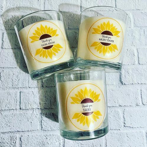 Sunflower Teacher candles