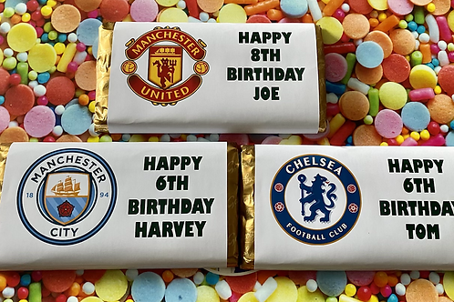 Any team chocolate bar with any wording