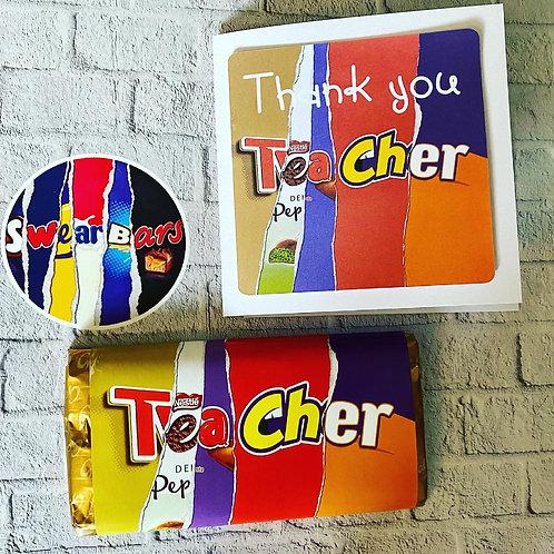 Teacher card and chocolate set