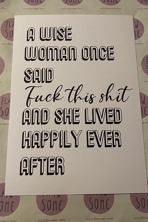A wise woman A4 print