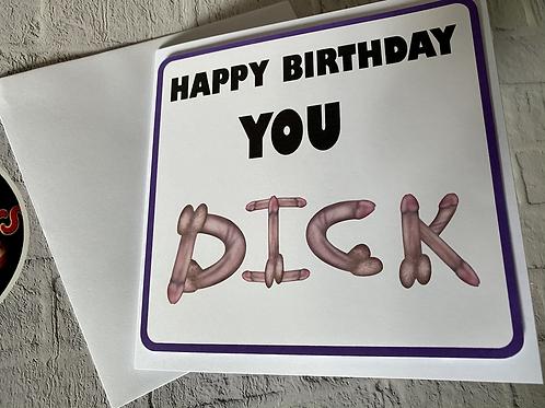 Happy Birthday Dick/Penis card