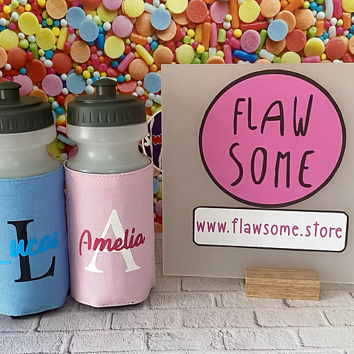 Personalised Water Bottles and Holder