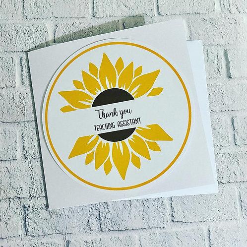 Sunflower Teacher cards