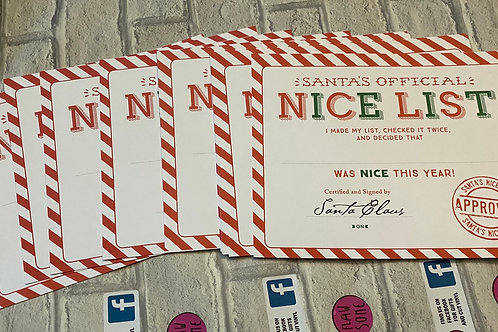 Nice lists (2 designs available )