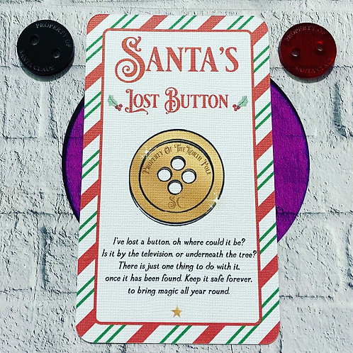 Santas lost button with note