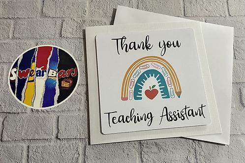 Rainbow teachers card