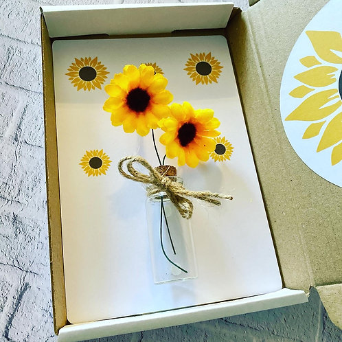 Sunflower gift box- Teacher gift (or other occasion )