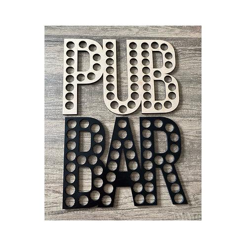 PUB/BAR WALL DECORATION (WOOD COLOUR)