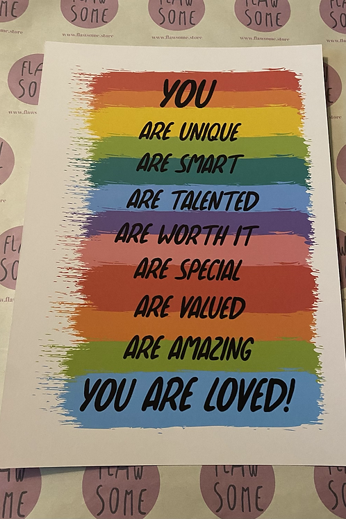 You are loved A4 print