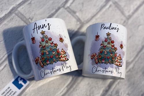 Personalised Christmas mug x1