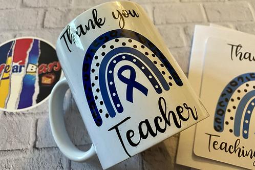 Diabetes Teacher/Teaching Assistant mug and card set